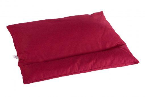 Grikių lukštų pagalvė (60x50 cm, bordo)