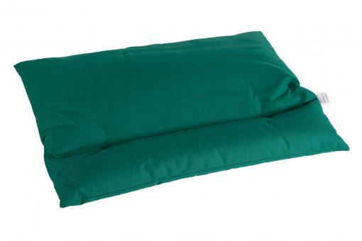 Grikių lukštų pagalvė (55x42 cm, žalia)