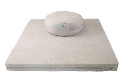 Grikių lukštų pufas ir čiužinukas meditacijai (pilkas)