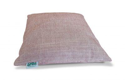 Grikių lukštų pagalvėlė (35×35 cm, rausva)