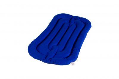 Grikių lukštų čiužinys kūdikio lopšiui (75x40 cm, mėlynas)