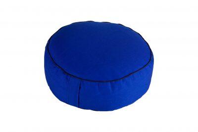 Grikių lukštų pufas (ø38 cm, aukštis 13 cm, mėlynas)
