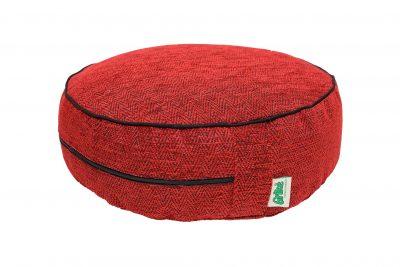 Grikių lukštų pufas (ø38 cm, aukštis 13 cm, raudonas)